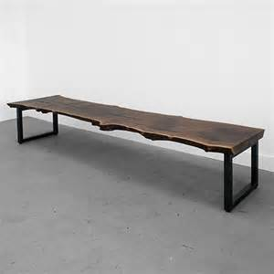 modern furniture bench standard base slab bench contemporary indoor benches by uhuru design
