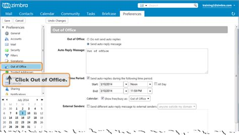 ooo message template creating an out of office message zimbra tech center