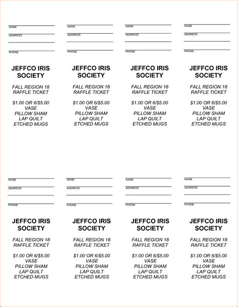free printable raffle ticket template authorization 5 free raffle ticket template authorizationletters org