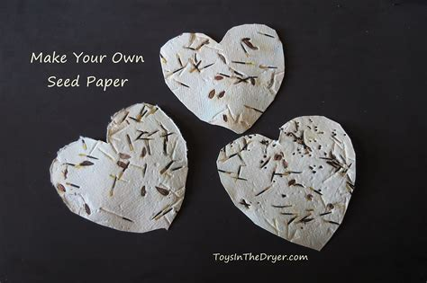 Make Seed Paper - make your own seed paper