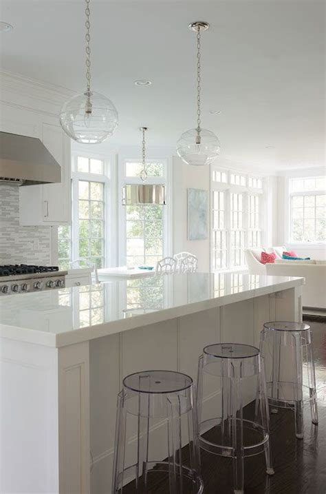 White Cabinets With White Quartz Countertops by White Cabinets White Gray Glass Backsplash White