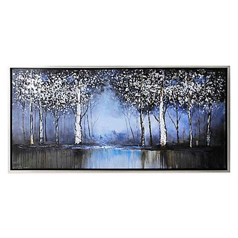 bed bath and beyond art cobalt tree hand painted canvas wall art bed bath beyond