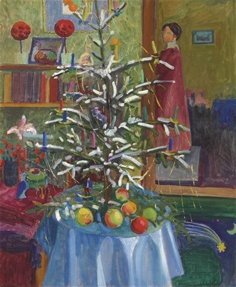 interieur mit weihnachtsbaum gabriele munter wikiart org