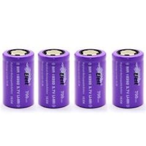 Efest Imr 18350 Battery 700mah 3 7v 10 5a With Flat Top imr 18350 battery 3 7v 700 mah flat top efest 10 5