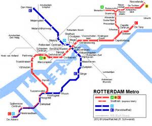 netherlands metro map rotterdam metro map 2003 169 urbanrail net pack your bags