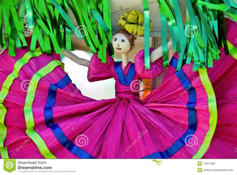 traditional corn husk doll corn husk doll in mexican dress stock photo image 13311680