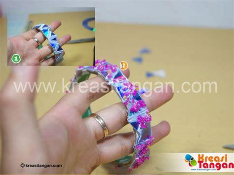 tutorial kerajinan tangan gelang membuat gelang dari barang bekas kerajinan tangan