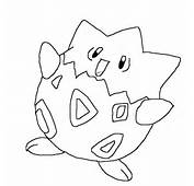 Pokemon Togepi Colouring Pages