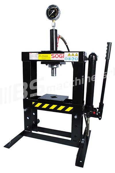 presse idrauliche da banco pressa idraulica pressatrice da banco 10 ton p10 m sogi ebay