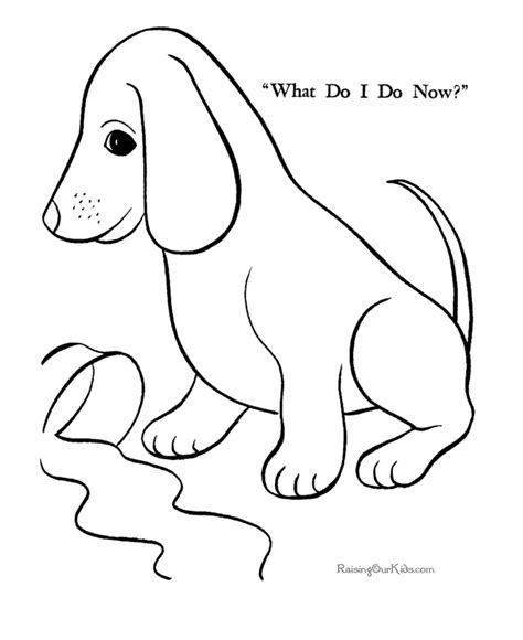 simple dog coloring page a simple dog coloring pages