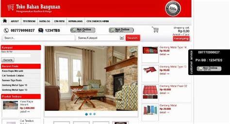 website toko  bangunan material jasa pembuatan