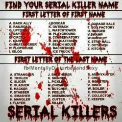 scary names find your serial killer name quizzes random and creepypasta