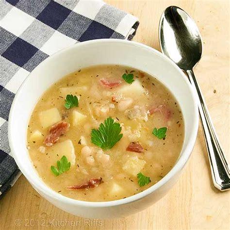 kitchen riffs white bean and potato soup