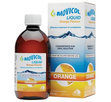 Orange Liquid Stool movicol liquid concentrate orange flavour 500ml