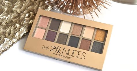 Maybelline Eyeshadow The 24k maybelline the 24k eyeshadow palette swatches and