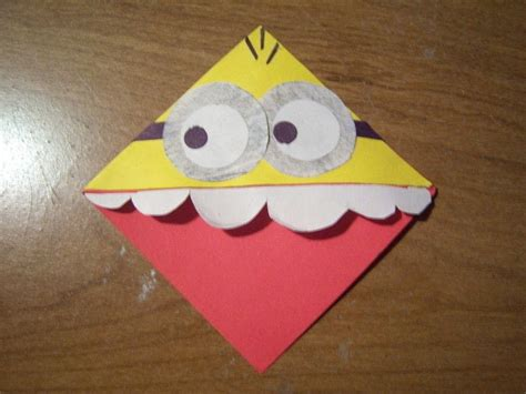 minion craft projects diy despicable me minion bookmark 183 how to make a corner