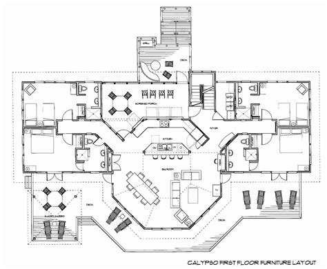 floor plan layout design calypso floor plans oceanfront rental home on key