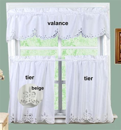 white kitchen curtains valances battenburg lace kitchen curtain valance tiers 24 quot 30