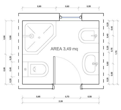 misure minime per un bagno bagni dimensioni minime