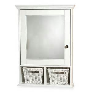 buy white medicine cabinet with wicker baskets from bed