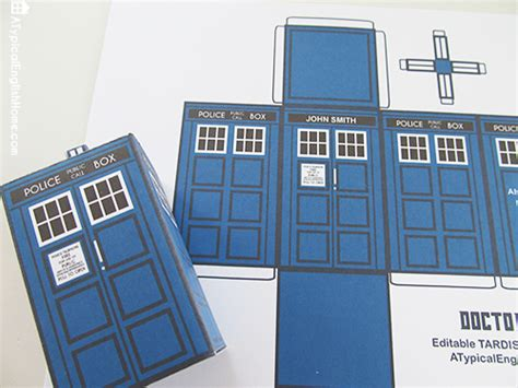 A Typical English Home Doctor Who Printable Tardis And Editable Party Favor Tardis Invitation Template