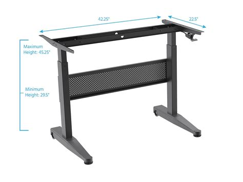 monoprice sit stand desk monoprice height adjustable gas lift sit stand desk frame