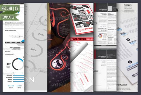 15 simple and advanced resume cv templates by cursiveq