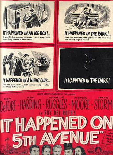 film it happened on fifth avenue vintage movies theater and entertainment ads of the 1940s