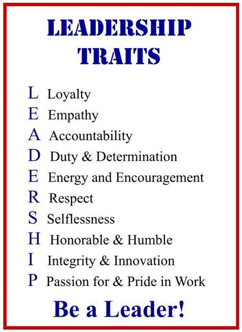 What Leadership Qualities Does Mba Provide by Leadership Traits Pictures To Pin On Pinsdaddy