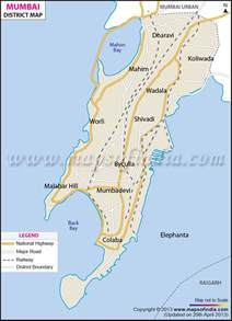 map of in mumbai district map