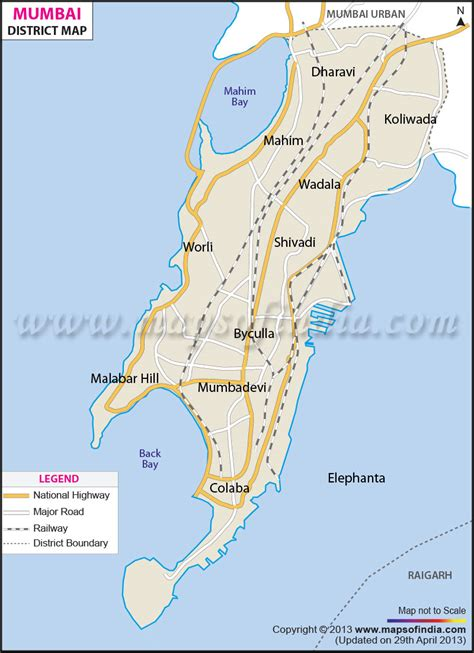 mumbai map image travel india