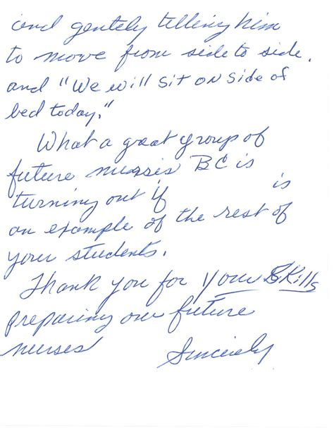 Thank You Letter Clinical Instructor a thank you note sonya christian s