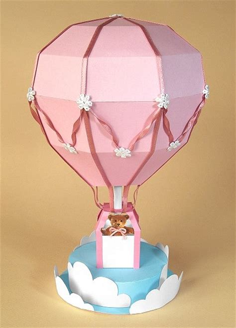 How To Make An Air Balloon Out Of Paper - a4 card templates for 3d air balloon display
