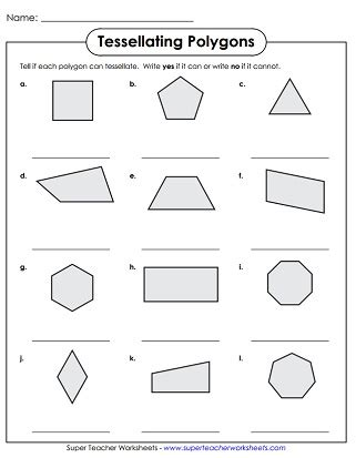 Symmetrical House Plans Tessellation Worksheets