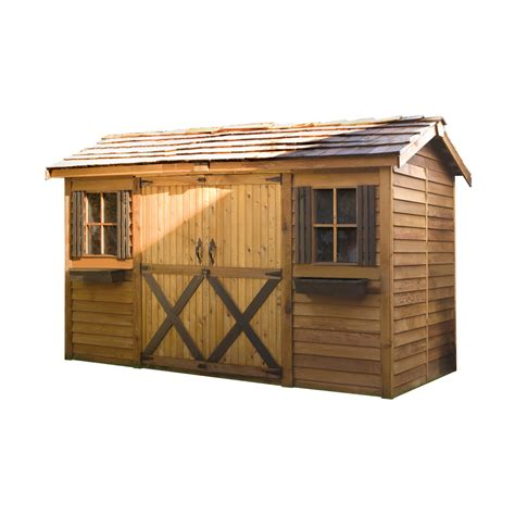 Lowes Canada Sheds by Cedar Shed Lh1 Longhouse Shed Lowe S Canada