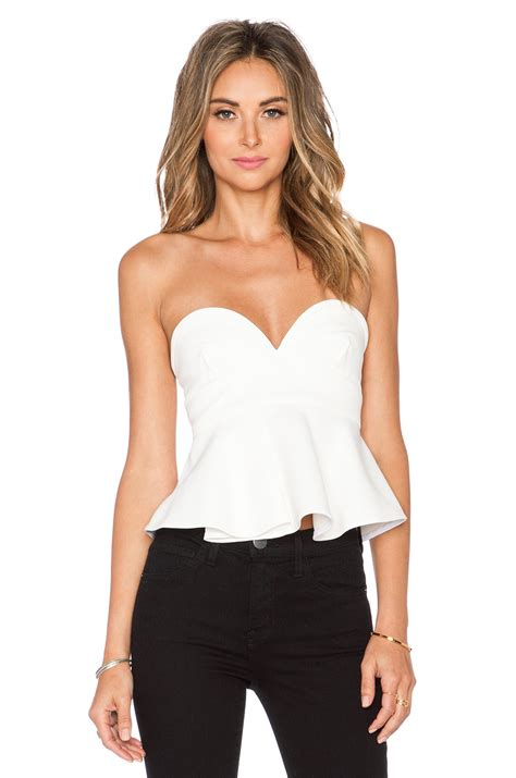 Bustier Tops by Nicholas Bonded Bustier Top In White Lyst