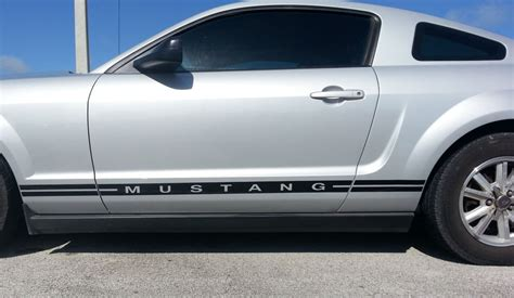 mustang stripes and decals ford mustang side stripes and text lower door decal