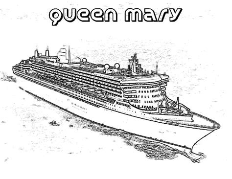 titanic boat doraemon queen mary cruise ship coloring pages netart