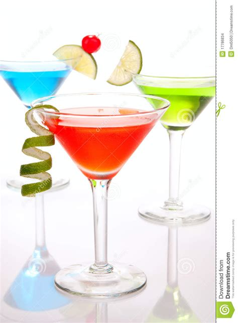 colorful cosmopolitan cocktails stock images image 17786834