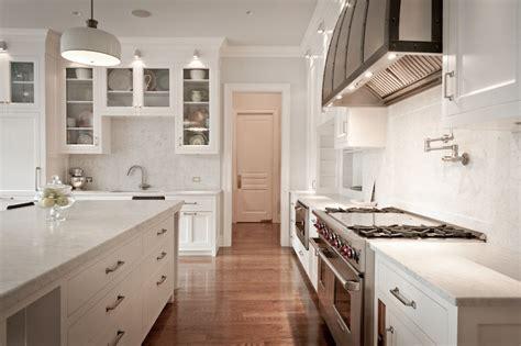 Carrara Marble Countertops   Transitional   kitchen
