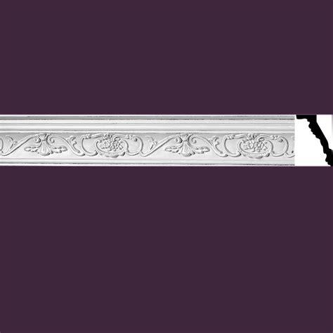 ornate cornice ornate cornice white urethane 3 3 4 quot h vineyard