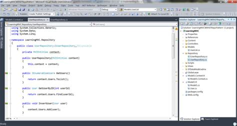 repository pattern read only repository pattern in mvc3 application with entity