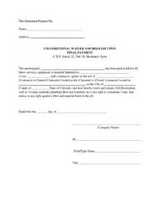 sample of waiver of payments fill online printable