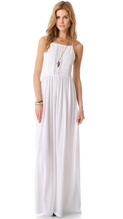 White Maxi lyst nightcap apron maxi dress in white