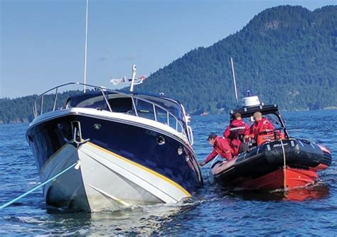 sinking boat canada seven rescued from sinking boat