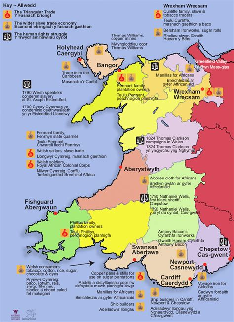 map of wales everywhere in chains wales and slavery map large version wcbc