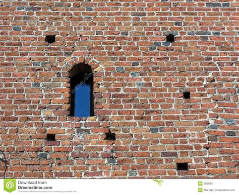 ancient brick wall window stock images image