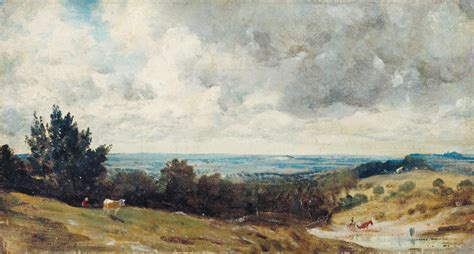 Charles Keith 1820 hstead heath with harrow in the distance