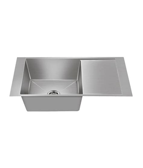 Nirali Kitchen Sinks Buy Nirali Kitchen Sink Single Bowl Maestro Small Satin At Low Price In India Snapdeal