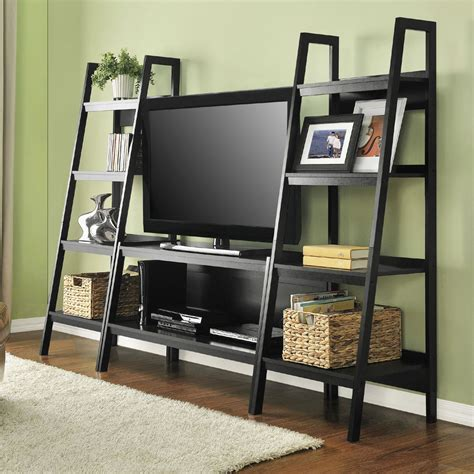tv stand with bookshelves altra ladder tv stand 1727096